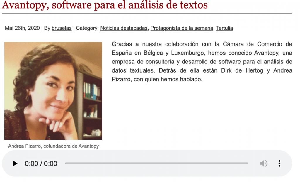 avantopy software para análisis de textos